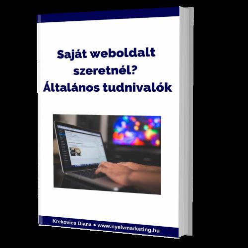 Saját weboldal e-könyv